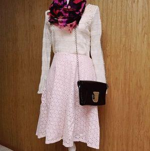 Pale pink Easter eyelet skirt 8